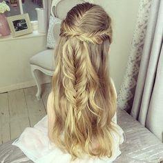 hairstylesbeauty Exotic Fish, Fishtail, Braided Hairstyles, Braids, Hair Beauty, Long Hair Styles, Makeup, Wedding, Google