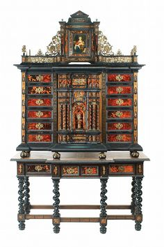 Buy online, view images and see past prices for An important Italian bronze, ebonized wood and tortoiseshell cabinet. Invaluable is the world's largest marketplace for art, antiques, and collectibles. European Furniture, Victorian Furniture, Italian Furniture, Furniture Styles, Antique Furniture, Furniture Design, Rustic Cabinets, Antique Cabinets, Architecture