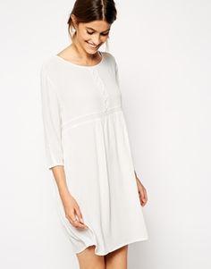 White quarter-sleeve smock (make cheaper version, original is $285)