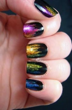 Simple Nail Art Designs That You Can Do Yourself – Your Beautiful Nails Get Nails, Fancy Nails, Pretty Nails, Hair And Nails, Nice Nails, Rainbow Nail Art, Colorful Nail Art, Beautiful Nail Designs, Simple Nail Designs