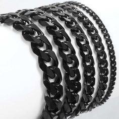 Men's Bracelets Silver Stainless Steel Curb Cuban Link Chain Bracelets For Men Women Wholesale Jewelry Gift Silver Bangle Bracelets, Metal Bracelets, Link Bracelets, Bracelets For Men, Bangles, Bracelet Men, Cuban Men, Men With Street Style, Hand Chain