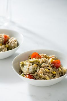 Whole-Wheat Orzo with Artichoke Pesto Recipe