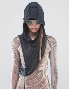 Hood-shawl by Demobaza // Post Apocalyptic Clothing, Post Apocalyptic Costume, Post Apocalyptic Fashion, Mode Steampunk, Steampunk Costume, Gothic Steampunk, Steampunk Clothing, Victorian Gothic, Steampunk Fashion
