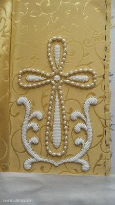 Gold Embroidery, Embroidery Stitches, Embroidery Patterns, Black Diamond Jewelry, Fibre And Fabric, Goldwork, Easter Projects, Cross Designs, Design Development