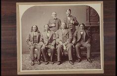 Back row L-R: Tsodiako (Wichita), White Man Chief (Kiowa-Apache) Front row L-R: Stumbling Bear (Kiowa), White Horse (Comanche) - 1880