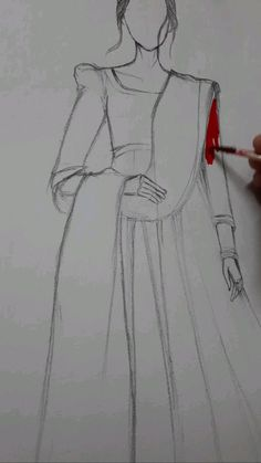 Fashion Design Books, Fashion Design Sketchbook, Fashion Illustration Sketches, Fashion Design Drawings, Fashion Drawing Tutorial, Fashion Figure Drawing, Fashion Drawing Dresses, Drawing Fashion, Dress Design Drawing