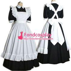 Sissy maid satin dress lockable Uniform cosplay costume Tailor-made[G2189]                                                                                                                                                      Mehr
