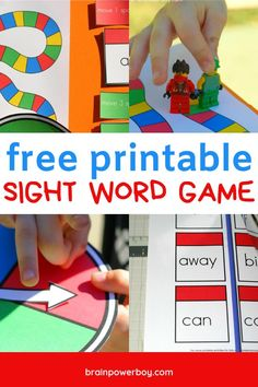 Print this awesome sight word game for free! Try our Dolch sight word game today and make learning to read fun. Great for Preschool Kindergarten and grade age kids as well as others who are beginning to read. They will actually want to play this game. Games For Boys, Spelling Activities, Preschool Games, Fun Activities For Kids, Preschool Kindergarten, Teaching Letter Recognition, Teaching Letters, Teaching Kids, Sight Words Printables