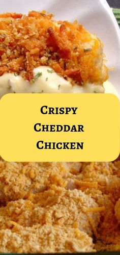 Crispy Cheddar Chicken #chicken #cheddar #easyrecipe