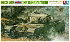 "Tamiya British Tank Centurion MK-III 1/35 scale ""Remote Control"" Vintage Classic Model Series."