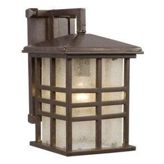 Negron 1-Light Outdoor Bronze Wall Lantern