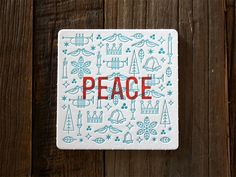 Peace Holiday Coaster by Jon McClure