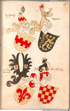 Bruderschaftsbuch des jülich-bergischen Hubertusordens Niederrhein, um 1500 Cod.icon. 318  Folio 86r
