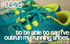 Love me some new running shoes.  About 6 pairs a year....