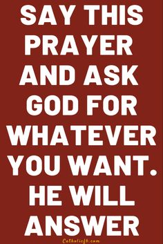 Say this Prayer and Ask God for Whatever your Want – Daily Prayer Novena Prayers, Catholic Prayers, Prayer List, Daily Prayer, Invocation Prayer, Bible Quotes, Bible Verses, Novenas Catholic, Wish Spell