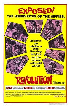 """REVOLUTION 1968 ON DVD. Primarily filmed in the Hippie Hill and Panhandle areas of Golden Gate Park, this """"60s San Francisco Hippie Scene"""" documentary features interviews with those who call themselves hippies, or identify with hippies. The counter-culture is revealed in discussions about sex, drugs, philosophy and lifestyle.   Casual sex and marijuana use are the main activities of one group. A nun who has left the order reveals her decisions to join the counterculture."""