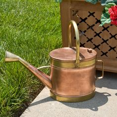 Classic Hammered Copper Watering Can