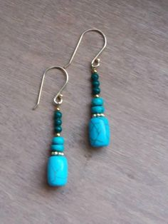 Hey, I found this really awesome Etsy listing at https://www.etsy.com/listing/569858253/turq-it-dangle-earrings-turquoise-beaded