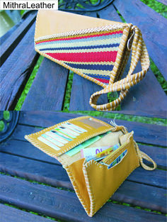 Genuine goat leather and Jajim woman wallet