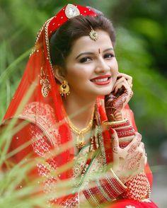 Pretty Nepali Bride's wedding day look ✨