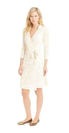 Lila Wrap Dress In Zebra