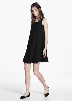 Soepelvallende jurk
