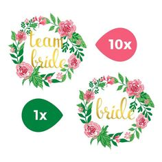 20 x poule nuit brides potable bouton Badges 1 pouce Demoiselle D/'honneur Mariage Fête