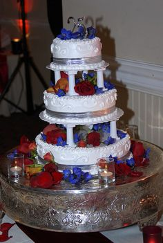 3 tiered traditional cake