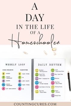 A Day in the Life of Homeschool - Counting Cures