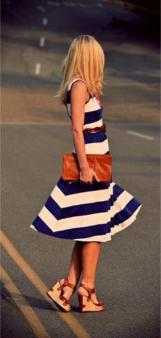 Dress: Asos - Belt: Gap - Wedges: Dsw