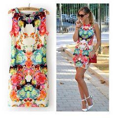 2014 vestido de verão o-pescoço curto angelababy projeto do vintage algodão printslim mangas vestido de uma peça de mini vestido vestido de mulher 9.39