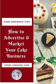 An image optimized for social media share for cake business tips - How to advertise and market your cake business from home. Home Bakery Business, Baking Business, Business Tips, Business Marketing, Bakery Slogans, Bakery Quotes, Cake Frosting Recipe, Frosting Recipes, Bbc Good Food Recipes