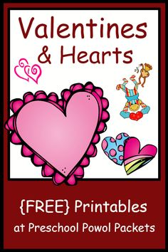 Lots Of Free Valentines Preschool Printables Freat For Kindergarten Too From