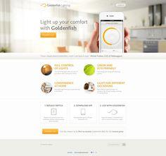 Golden Fish Lighting #webdesign #inspiration #app  http://goldenfishlighting.com/