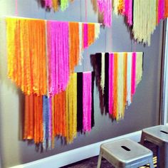 love this yarn backdrop installation by http://www.ccerruti.com from Creative Bug's booth at Alt Summit - great idea for weddings! (photo by chandra fredrick)