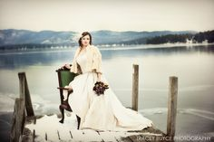 Winter Wedding photographed by Tracey Buyce