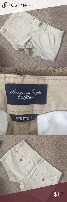 American eagle tan shorts Tan shorts in excellent condition :) American Eagle Outfitters Shorts