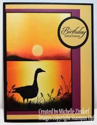 Image result for sunset over sea handmade card