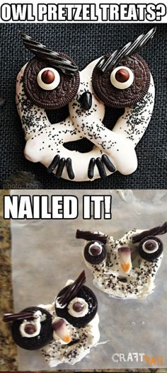 Haunted Hooting Owl Pretzels nailed it