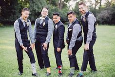 Great Gatsby themed wedding | Photo by  DeepEnd Imagery | Read more - http://www.100layercake.com/blog/?p=79055 #artdeco #wedding #groomsmen #fashion