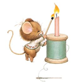 Souris - with animated candle flame