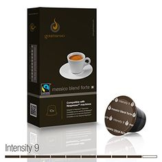 Gourmesso Messico Blend Forte  100 Nespresso Compatible Coffee Capsules  Fair Trade -- Details can be found by clicking on the image.