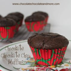 The Ultimate Chocolate Chocolate Chip Muffins-perfect with your morning coffee or as an afternoon snack.