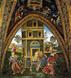 The Martyrdom of St. Barbara - Pinturicchio.  1492-94.  Fresco.  Hall of the Saints, Borgia Apartments, Vatican Palace, Vatican City.