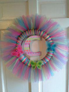 Butterfly tulle wreath