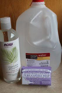 homemade body wash - cheap and natural