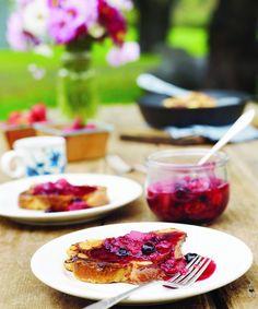 Farmhouse French Toast with Backyard Berry Syrup | Edible Feast #edibleseasons #ediblespring #ediblekitchen