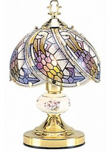 OK Lighting Touch Lamp with Tiffany Glass Floral Theme Gold for sale online Touch Table Lamps, Touch Lamp, Best Bedside Lamps, Grandfather Clocks For Sale, Best Wall Clocks, Best Outdoor Lighting, Gold Floor Lamp, Gold For Sale, Tiffany Glass
