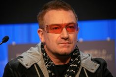 Bono, for all his philanthropy and his great sounding voice.