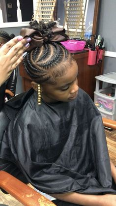 68 trendy braids for kids tips Little Girl Braid Styles, Kid Braid Styles, Little Girl Braids, Black Girl Braids, Braids For Black Hair, Black Kids Hairstyles, Baby Girl Hairstyles, Natural Hairstyles For Kids, Kids Braided Hairstyles